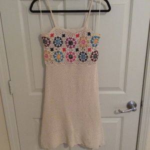 Mossimo Supply Co. Dresses - Off white knit dress with knit flowers